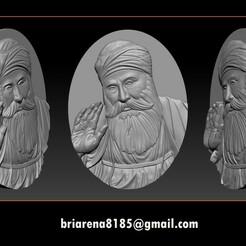 000.jpg Télécharger fichier STL Modèle 3D de Guru Nanak pour une routeuse CNC • Design imprimable en 3D, briarena8185