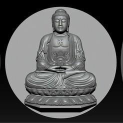 000.jpg Download STL file   Pendant Buddha - STL- OBJ and ZTL • 3D printable model, briarena8185