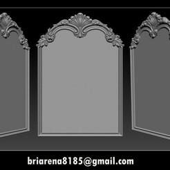 000.jpg Download STL file Mirror classical carved frame • 3D printer design, briarena8185