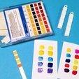 Free STL pH Litmus Paper Earrings, Vishell