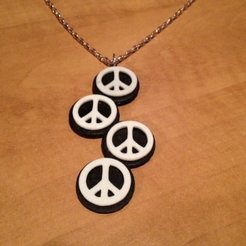 Download free 3D printer templates Peace Sign Necklace, Vishell