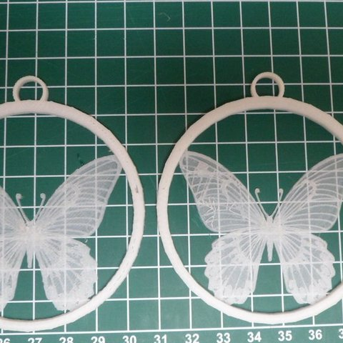 Free 3D printer designs Butterfly XMas tree hanger, Vishell