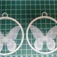 Download free STL files Butterfly XMas tree hanger, Vishell