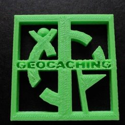 Free STL files Geocaching logo 2, Vishell