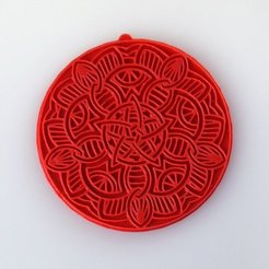 Download free 3D printing templates Mandala Necklace, Vishell