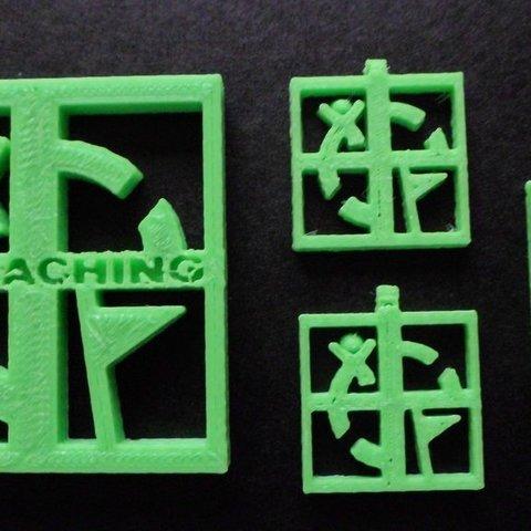 Download free 3D printer designs Geocaching hanger, Vishell