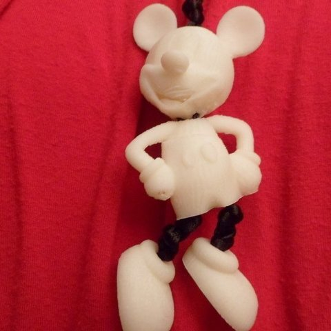 Free STL Mickey Mouse necklace, Vishell