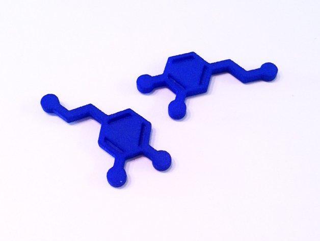 dopamine1_display_large.jpg Download free STL file Dopamine Charm • 3D printer object, Vishell