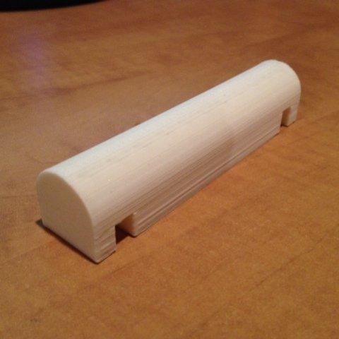 """Free STL Spool Holder Crossmember for Maker Farm Prusa 8"""" i3v, Vishell"""