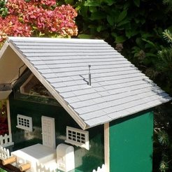 Free 3D printer model Roof for  bird house, Vishell