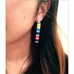 Download free 3D printer designs pH Litmus Paper Earrings, Vishell