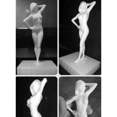 STL files Sexy Girl Stand Pose, gafeel