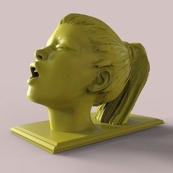 Download STL Sexy Girl Orgasm Face Expression Statue, gafeel