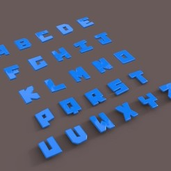 Download 3D printing models English Alphabet Letters, gafeel