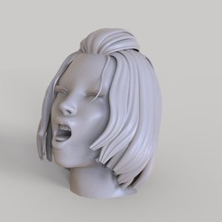 3D print model Sexy Female Girl Face Orgasm Expression 3D Print, gafeel