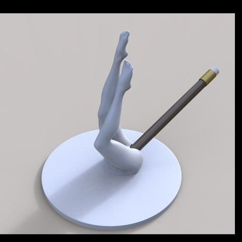 Download 3D printer model Sexy Female Body Pencil Holder, gafeel