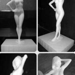picgirl_1.jpg Download STL file Sexy Girl Standing Pose • 3D print template, gafeel