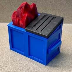5055BA17-56BB-4033-A6D1-25BFF09A9D60.jpeg Télécharger fichier STL gratuit Incendie de benne à ordures • Design à imprimer en 3D, njeff