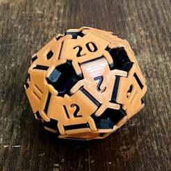 6AD7B7AD-6C84-4523-8A45-F49A3734D0DF.jpeg Download free STL file Snap-together d20 (number 13 fixed) • 3D printing object, njeff