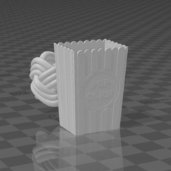 Download free 3D printing templates Popcorn bucket woggle (slide), njeff