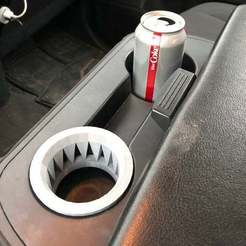 IMG_2144.jpg Download free STL file Cup holder insert for Nissan Titan • Template to 3D print, njeff