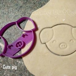Download 3D printer model Cute Pig Cookie Cutter, FatDogCookieCutters