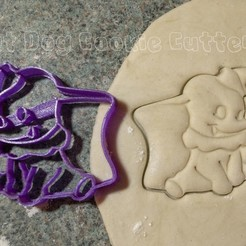 STL files Dumbo Cookie Cutter, FatDogCookieCutters