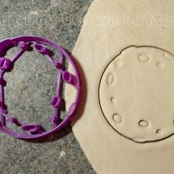 Download 3D printing models Moon or Asteroid Cookie Cutter, FatDogCookieCutters