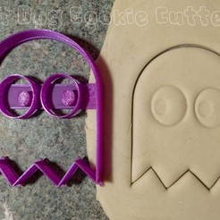 3D print files Pacman Ghost Cookie Cutter, FatDogCookieCutters
