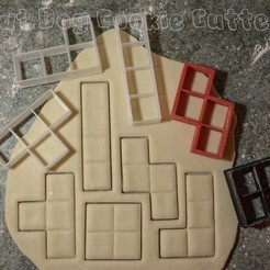 3D printer models Tetris Cookie Cutters, FatDogCookieCutters