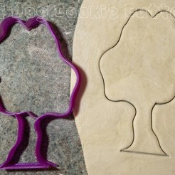 Download STL files Tree Cookie Cutter, FatDogCookieCutters