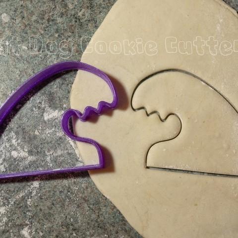 Download 3D print files Wave Cookie Cutter, FatDogCookieCutters