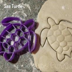 STL Sea Turtle Cookie Cutter, FatDogCookieCutters
