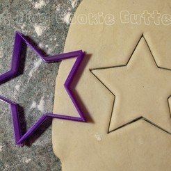 Download 3D printing designs Star Cookie Cutter, FatDogCookieCutters