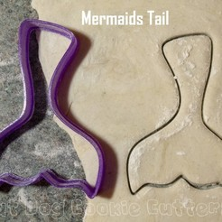 3D print model Mermaids Tail Cookie Cutter, FatDogCookieCutters