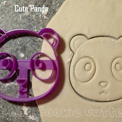 3D print files Cute Panda Cookie Cutter, FatDogCookieCutters