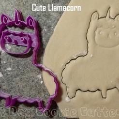 STL Cortador de galletas Llamacornio, FatDogCookieCutters