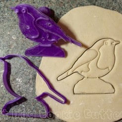 robin.JPG Download STL file Robin Cookie Cutter With Stamp • 3D printer object, FatDogCookieCutters
