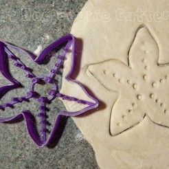 3D print model Starfish Cookie Cutter, FatDogCookieCutters