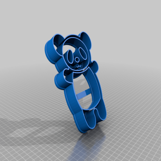 Download free 3D printer files Full Panda Cookie Cutter, kasinatorhh