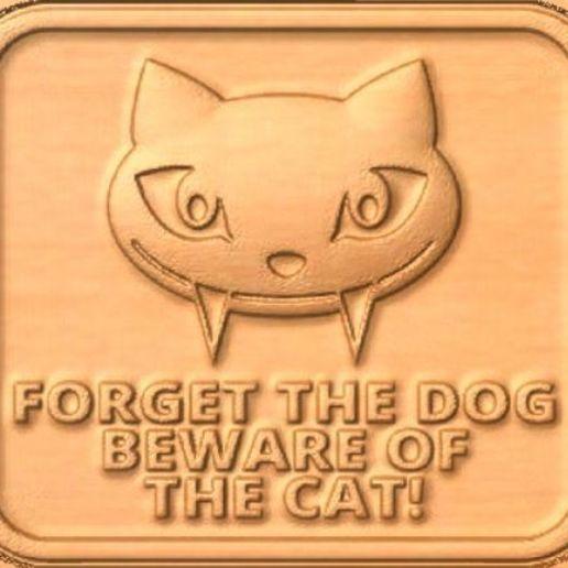 Cat.jpg Download free STL file Beware of the cat • 3D print model, Account-Closed