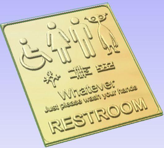 Rest.jpg Download free STL file Restroom Signage • 3D printable template, Account-Closed