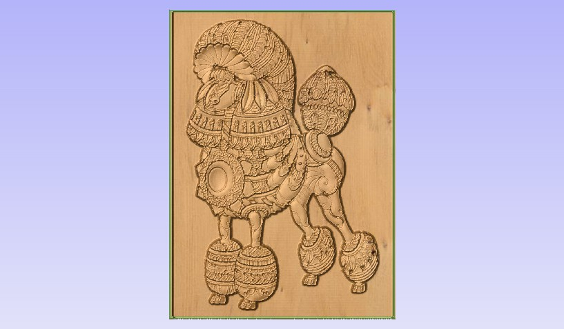 p1.jpg Download free STL file Poodle • 3D printer template, Account-Closed