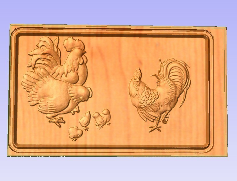 Chickens.jpg Télécharger fichier STL gratuit Poulets • Objet pour impression 3D, Account-Closed