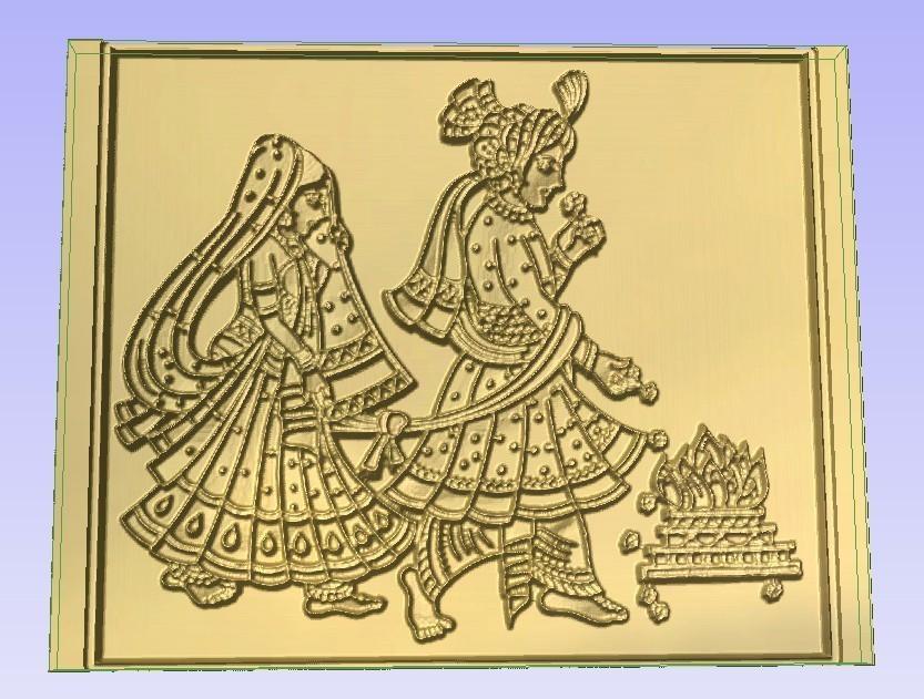 Hindu Ceremony.jpg Télécharger fichier STL gratuit Cérémonie des fils de discussion • Objet pour impression 3D, Account-Closed