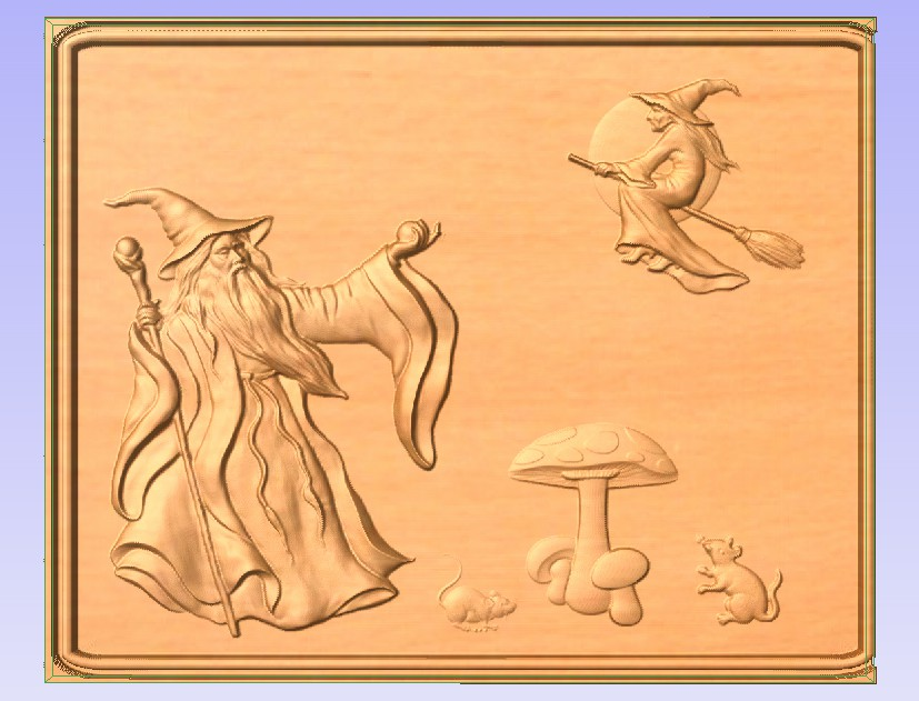 Magic.jpg Download free STL file Wizard and Witch • 3D printing design, Account-Closed