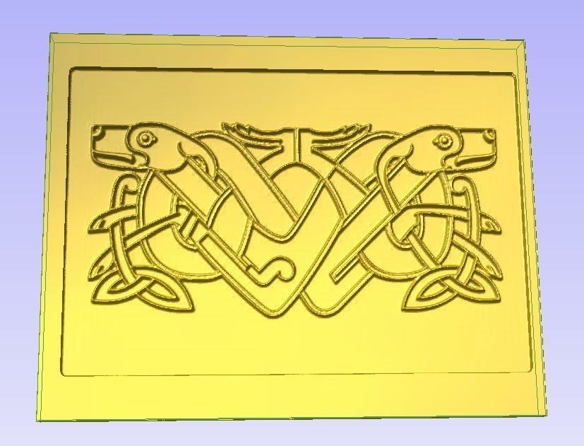 Dogz.jpg Download free STL file Celtic Dogs • 3D print design, Account-Closed