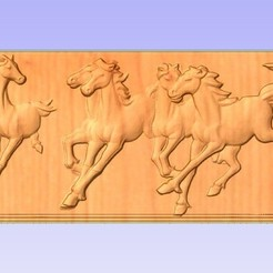 Download free 3D printer templates Running Horses, ungerk99