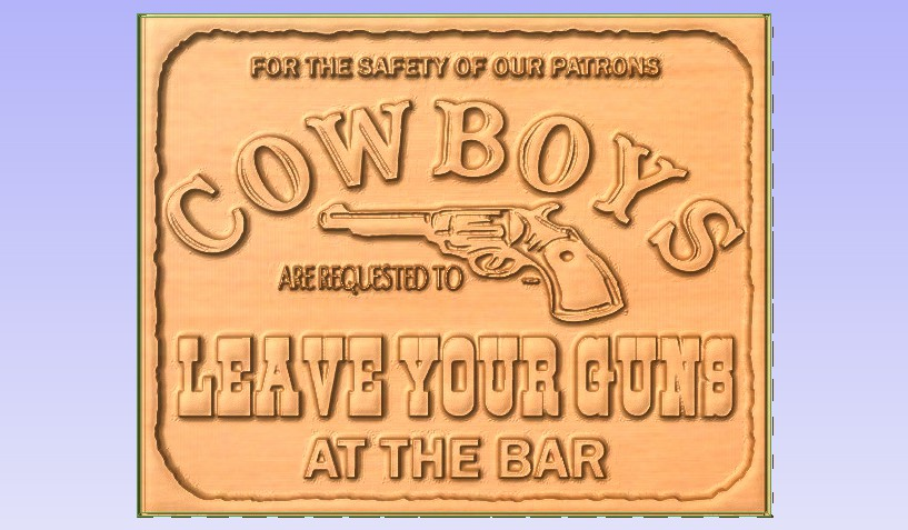 Cowboy.jpg Download free STL file Pub Sign • 3D printable design, Account-Closed