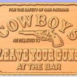 Cowboy.jpg Download free STL file Pub Sign • 3D printable design, Account-Closed